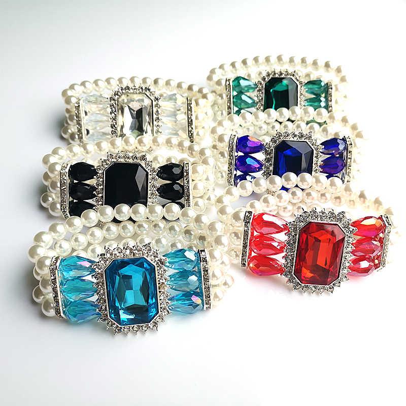 Шесть цветов, новый стиль, модный женский браслет, ручная работа, белый жемчуг, аксессуары, подарок на праздник, браслет, оптовая продажа