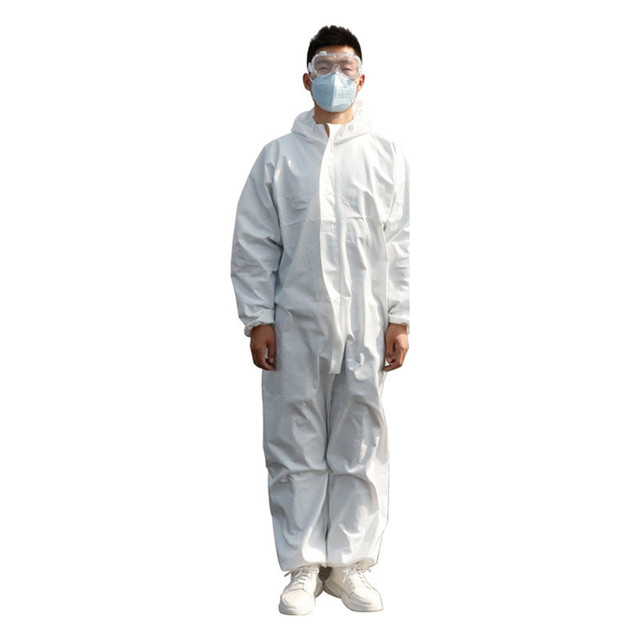 Disposable  Virus Isolation Clothing Hazmat PPE Suit Anti-Virus Protective Clothing Safety Disposable Washable Coverall 2