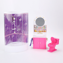 אמיתי עבור נסיכה ברבי אסלת אמבטיה שיער שידה בובת אביזרי 1/6 bjd בובת אמבטיה אמבטיה ריהוט סט ילד צעצוע מתנה