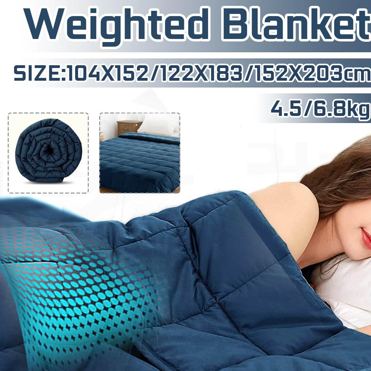 Cobertura ponderada para crianças adulto cobertores cobertor de dormir macio cobertor pesado descompressão sleep aid pressão ponderada colcha|Cobertores| |  - title=