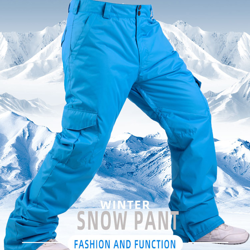 Plus Size Men's Snow Pants Specialty Snowboarding Trousers Waterproof Windproof Winter Outdoor Sports Hiking Ski Pant For Male