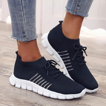 Fashion Women's Sneakers Mesh Casual Lace-up Sport Shoes Runing Breathable Shoes Lace Up Breathable Casual Sneakers Women 1