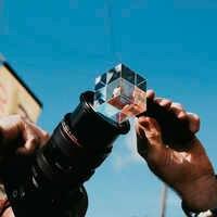 DIY Fotografie Kristall Ball Optische Glas Magie Foto Ball mit 1/4'' Glow Wirkung Dekorative Fotografie Studio Zubehör