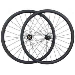 Image 1 - 29er MTB light XC tubeless 34mm carbon boost wheels 30mm depth Novatec D791SB B15 D792SB B12 disc hubs Pillar triple butted 2015