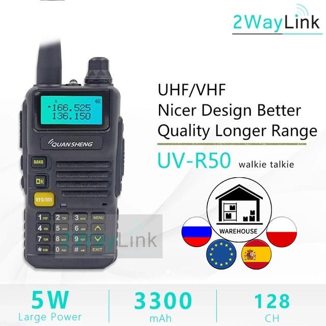 QuanSheng UV R50 TG UV2 Walkie Talkie UV R50 2 UHF VHF 5W Two way Radio 3300mAh Portable Quansheng UV R50( 1) Ham Radio TG UV50R