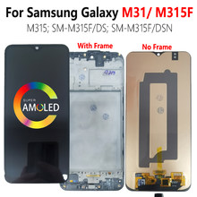 Super amoled m315f lcd para samsung galaxy m31 lcd com quadro m315 SM-M315F/ds SM-M315F/dsn display tela de toque digitador testado