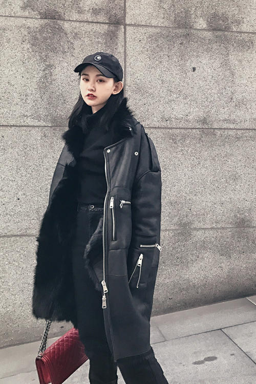 2020 High Qualty Wool Fur Coat Women Winter Imported Fur Jacket Warm Thickening Parkas Female Cool Outwear 16172MF305