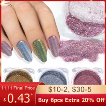 1g Chameleon Nail Glitter Powder Dipping Holographic Silver Rose Gold Shimmer Rubbing For Nails Chromem Dust DIY Manicure BE1028