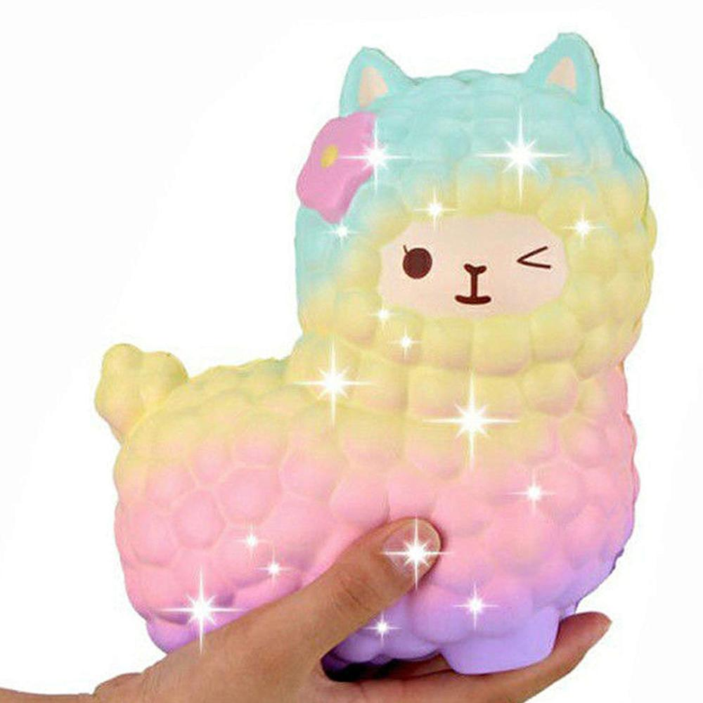 Jumbo Sheep Alpaca Squishy Cute Galaxy Slow Rising Squeeze Toys Animal Squishy Squish Wholesale Stress Relief Exquisite Kid Gift