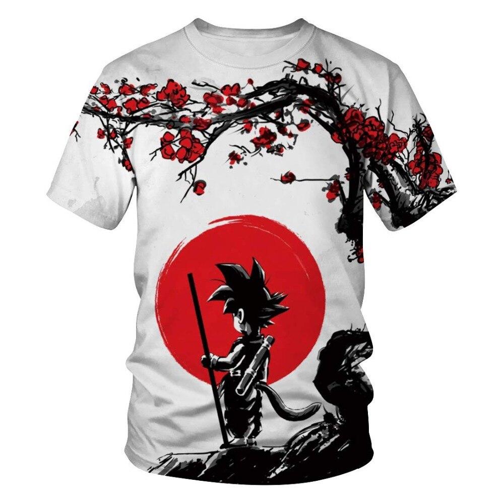 New Dragon Ball Z Harajuku T Shirt Men Fashion Casual Tshirt 3D Printed Goku Men T-Shirt Anime Fitness Clothing 2019 Tops&Tees