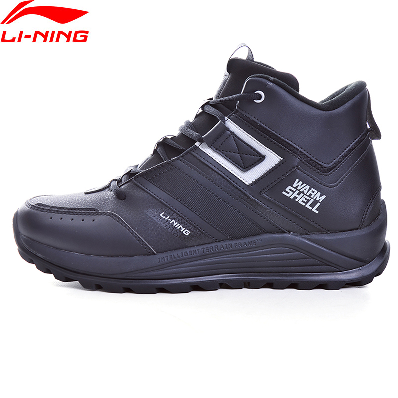 Li-Ning Men LN PIONEER 2019 Lifestyle Classic Shoes Warm Winter Fleece LiNing Li Ning WATER SHELL Sport Shoes AGCP147 YXB333