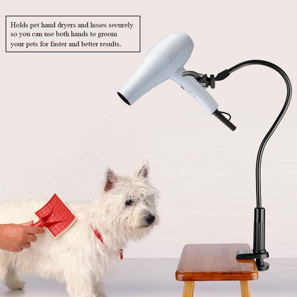 Pet Hair Dryer Stand Fixed Bracket 360 Degree Rotating Freely Retractable Rack Convenient Hands-Free Care Accessories For Dogs 9