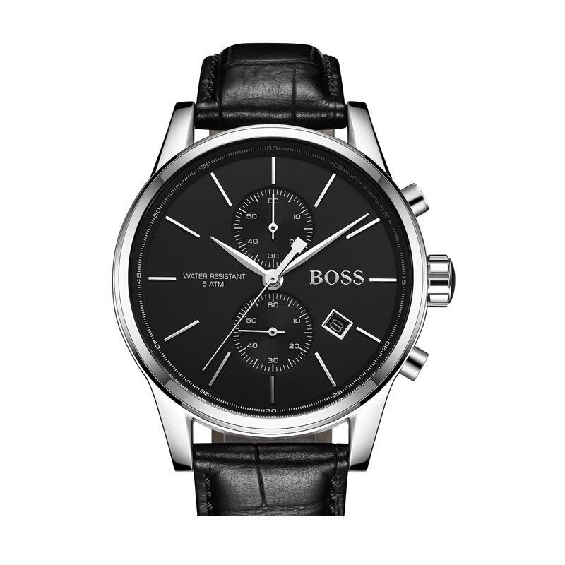 BOSS Men Quartz Watch Vintage Business Wristwatch Aaa Mens Gents Chronograph Black Watch - 1513279