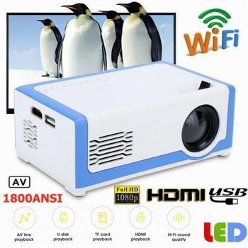 Portátil hd mini projetor td90 nativo 1920x1080p led android wi fi projetor vídeo cinema em casa 3d hdmi usb filme jogo proyector