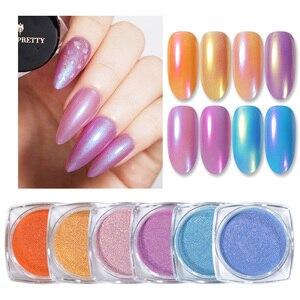 Image 2 - 1g Spiegel Glitter Schimmer Pulver Nagel Chrom Pigment Dazzling Salon Micro Pulver Laser Nail art Dekorationen