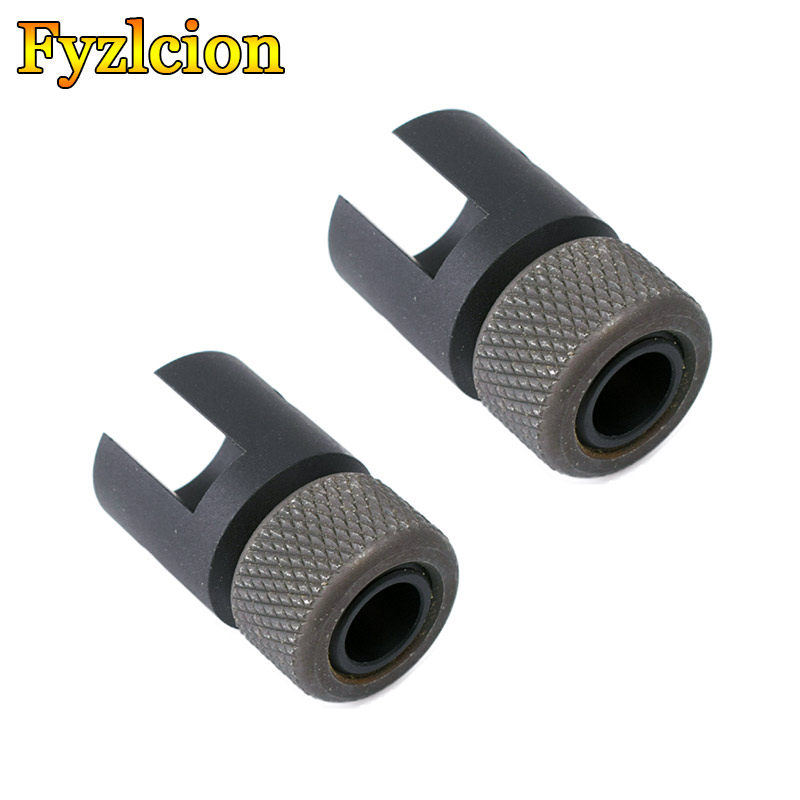 Tactical Barrel End Threaded Adapter 1/2x28 5/8-24 Muzzle Brake  With Knurled Steel Thread Protector
