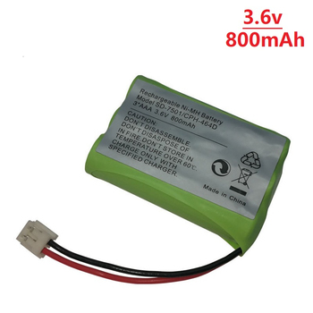 Cordless Home Phone NiMH 800mAh 3.6V Rechargeable Battery for Motorola SD-7501 V-Tech 89-1323-00-00 AT & T Lucent 27910 CPH-464D image