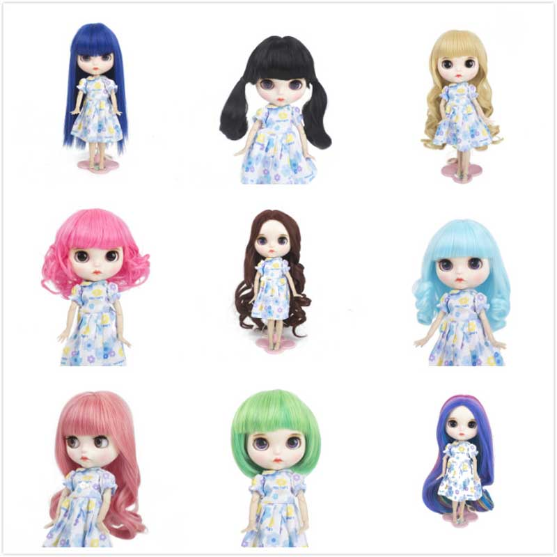 Big sale! 25 cm High Temperature Fiber doll wig fit for blyth doll with many color dome short hair