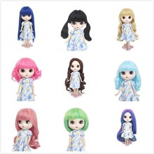 Big sale! 25 cm High Temperature Fiber doll wig fit for blyth doll with many color dome short hair цена в Москве и Питере