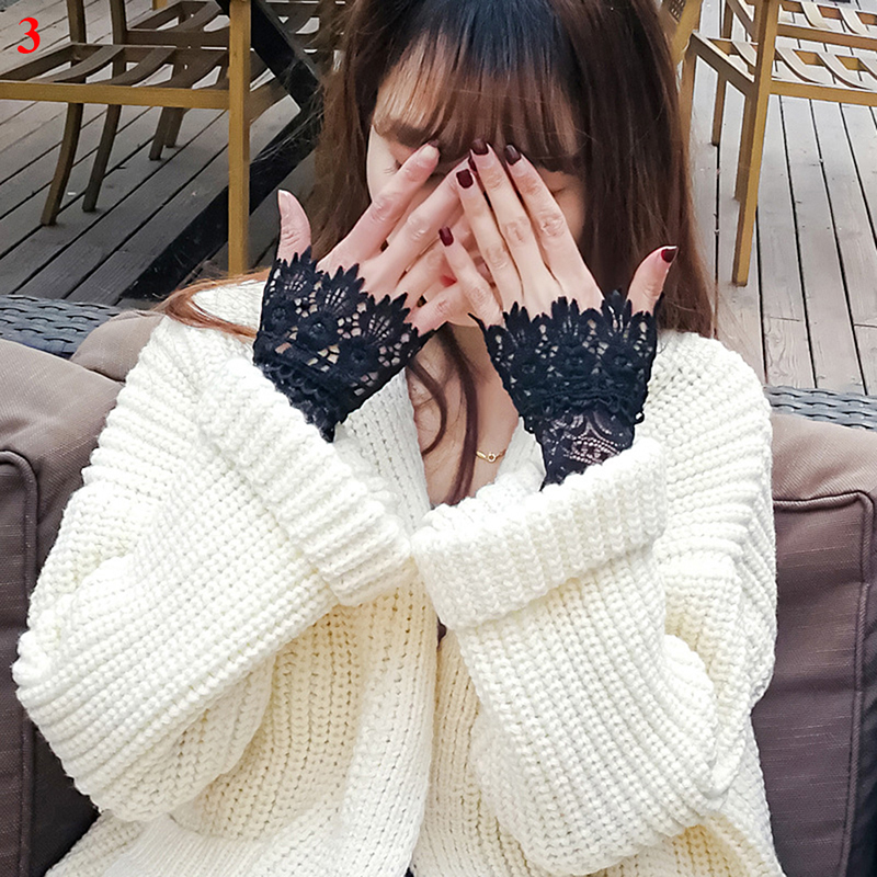 2019 Fresh Lace Cuff Fake Sleeves Wild Sweater Decorative Sleeves Flounces Buttoned Wrist Sleeves Autumn And Winter Fake Sleeves