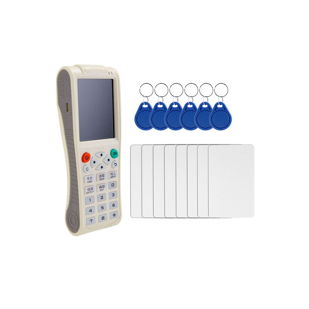 Nuevo duplicador iCopy 8 RFID copiadora iCopy8 con función de decodificación completa llave de tarjeta inteligente máquina RFID NFC copiadora IC ID lector escritor 10 duplicador de copiadora RFID de frecuencia inglesa 125 Khz llavero NFC lector escritor 13,56 MHz programador cifrado USB UID copia Etiqueta de tarjeta