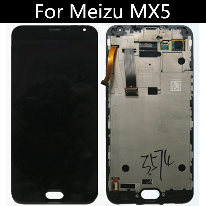 For <font><b>Meizu</b></font> <font><b>MX5</b></font> MX 5 <font><b>LCD</b></font> <font><b>Display</b></font> <font><b>touch</b></font> <font><b>Screen</b></font> with frame Digitizer Assembly Replacement Accessories for 5.5