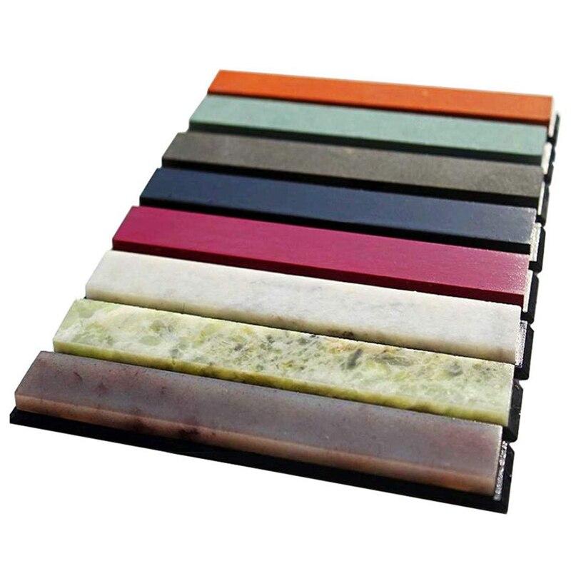 8Pcs 200-10000 Grit Apex Pro Pencil Sharpener Whetstone Oilstone Grinder Holder Knife Sharpening Stone Set System