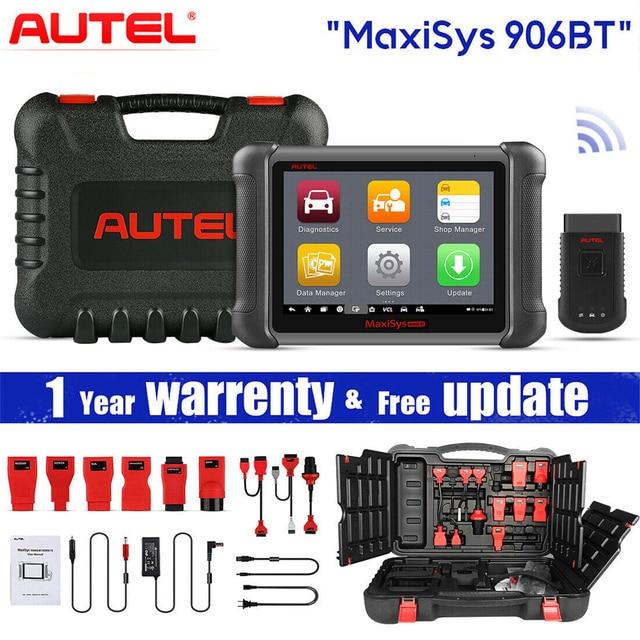 Autel MaxiSys MS906BT סריקת כלי רכב אבחון עם ECU קידוד, פעיל מבחן, IMMO מפתחות, OE רמת אבחון שמן איפוס, EPB, SAS,
