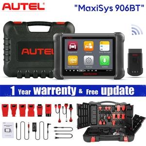 Image 1 - Autel أداة تشخيص السيارة MaxiSys MS906BT ، تشخيص السيارة مع تشفير وحدة التحكم الإلكترونية ، الاختبار النشط ، مفاتيح IMMO ، مستوى OE ، إعادة ضبط الزيت ، EPB ، SAS