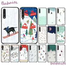 Babaite Funny Cartoon Ski Pattern DIY Printing Drawing Phone Case for Huawei VIEW20 HONOR 5A 10I 20IPLAY 8C 9X PRO Y9 2018 Cover(China)