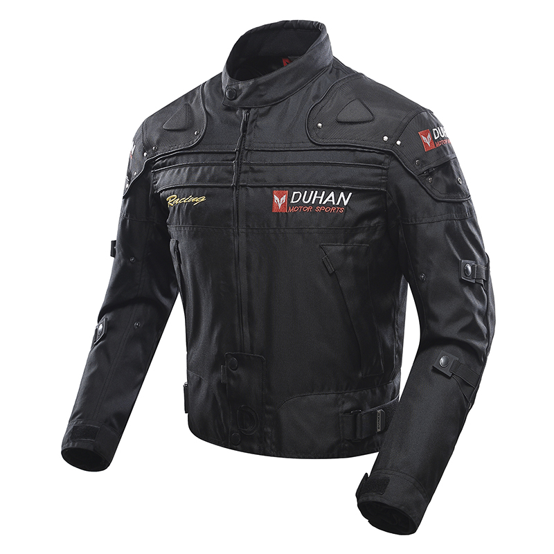 Duhan Fashion Men's Motorcycle Jackets Off-Road Oxford Cloth Motorcycle Riding Racing Moto Jacket Five Protector Clothes