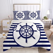 Bedding Set Quilt Cover 200X200 Anchor Printed Duvet Cover With Pillowcase King Size Bedroom For Hoome Children Bed Cover
