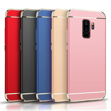 TNSULY For Galaxy S9 Plus Mobile Phone Case Electroplating Fitted Frosted Hard Shell Anti knock Cover 6.2 Inches