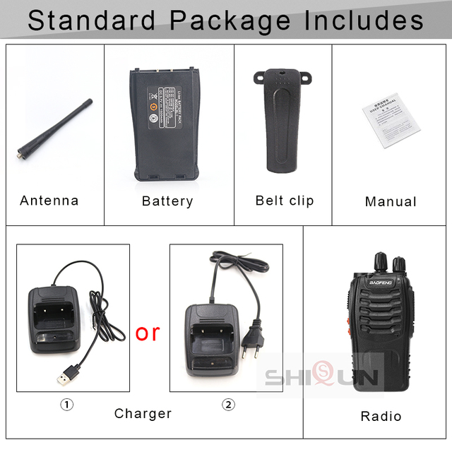 1PC or 2PCS Baofeng BF-888S Walkie Talkie 888s UHF 5W 400-470MHz BF888s BF 888S H777 Cheap Two Way Radio with USB Charger H-777 6