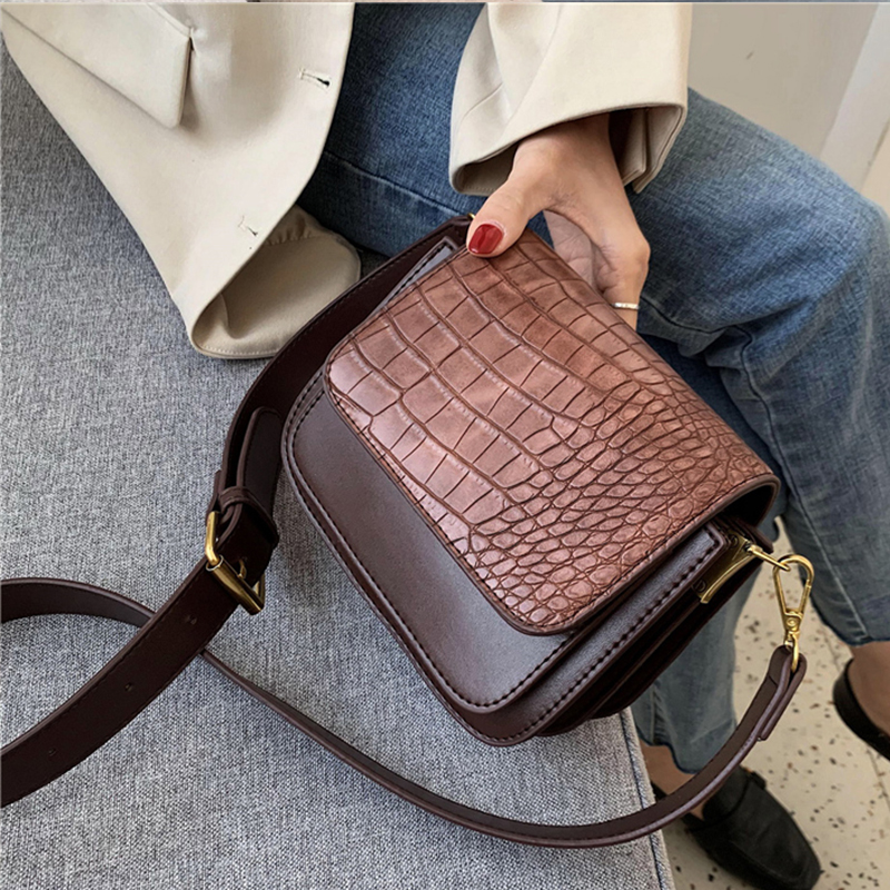 2020 Women Fashion Stone Pattern PU Leather Chain Small Crossbody Bags Handbag Small Bag Ladies Designer Evening Bags