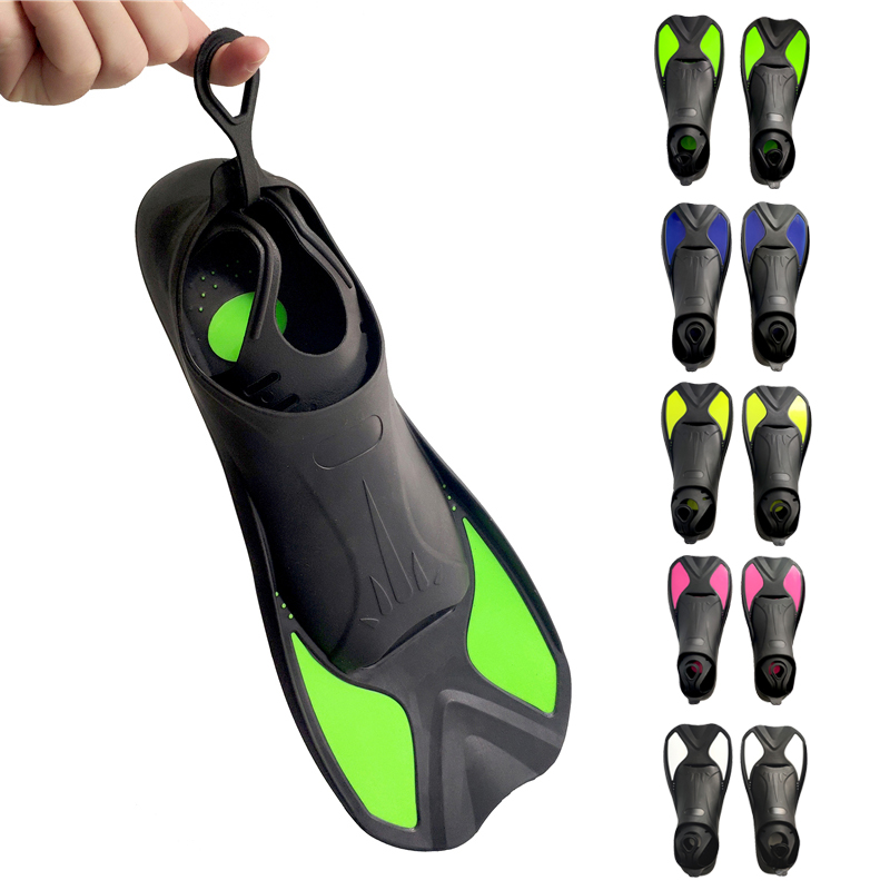 Snorkeling Diving Swimming Fins Adult/Kids Flexible Comfort TPR+PP Flippers Water Sports Short Training Flippers XXS/XS/S/M/L/XL