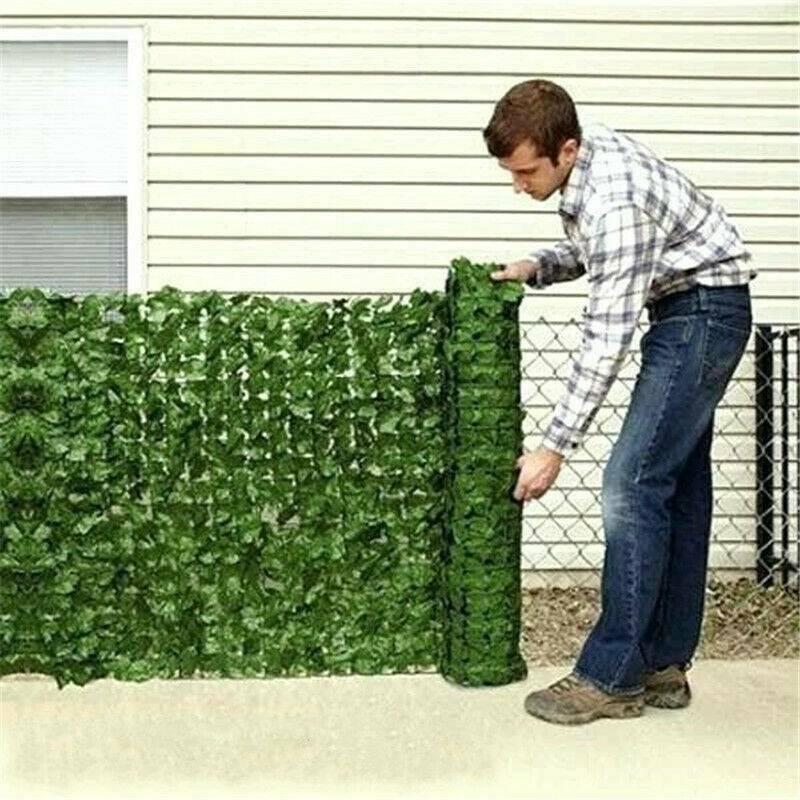 Садовая ограда из растений искусственный с изображением зеленых листьев и конфиденциальности Экран панели мебели из ротанга машинки для п...