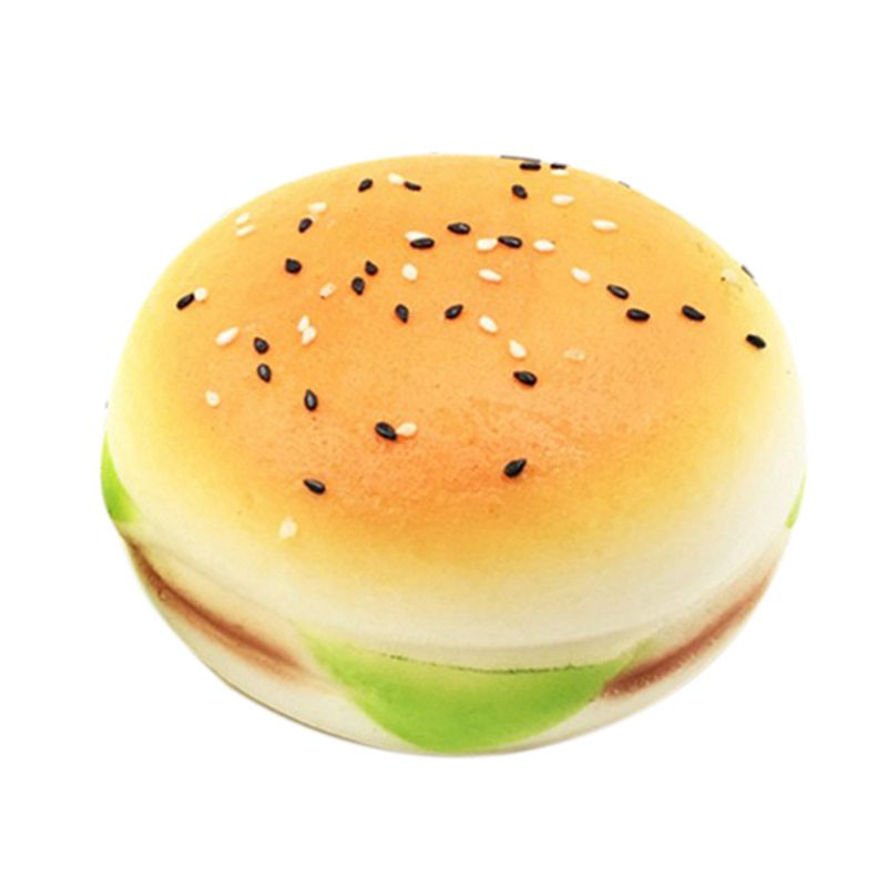 10CM Jumbo Burger Squishy Charms Slow Rising Hamburger Toy