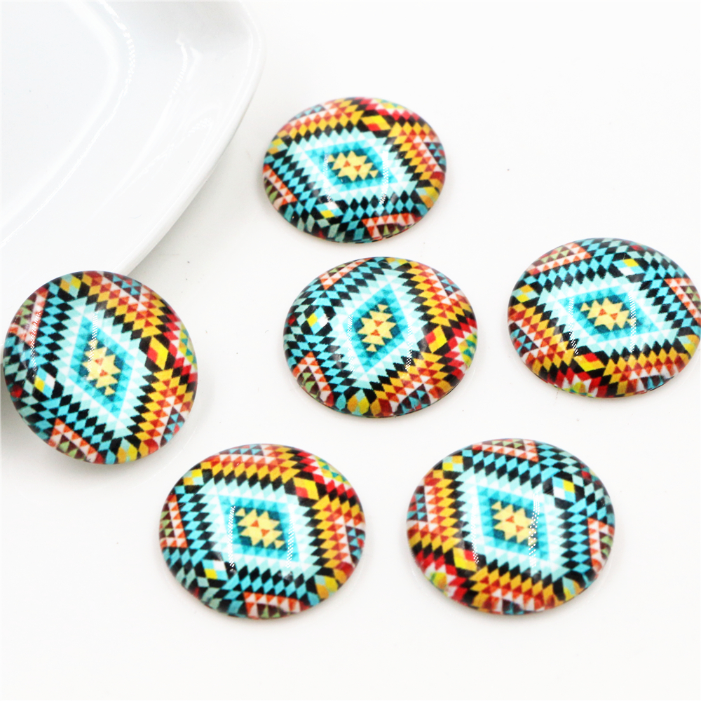 Hot Sale 10pcs 20mm Handmade Fashion Photo Glass Cabochons Pattern Domed Jewelry Accessories Supplies-H3-02