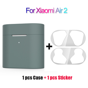 Case For Xiaomi Mi Air 2 Wireless Bluetooth Headset Protective Full Cover Case For Airdots Pro 2 TWS Dust Guard Sticker 2020 image