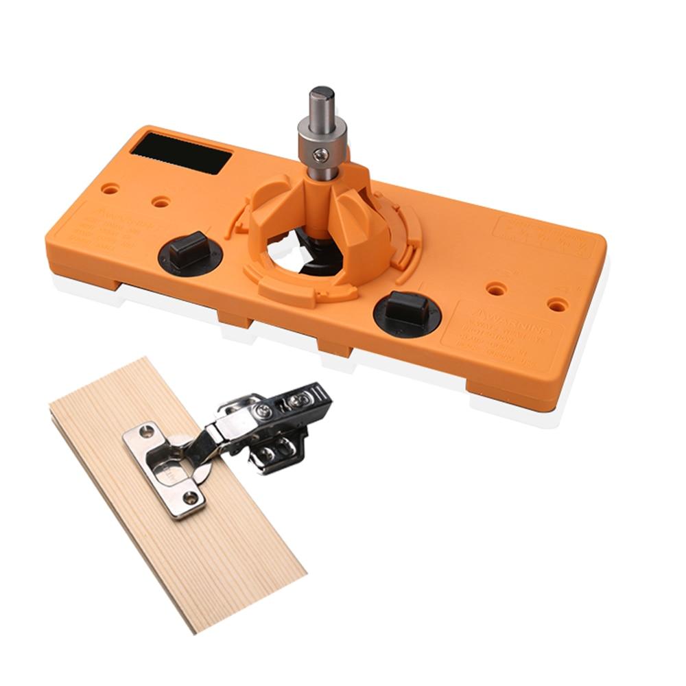 WORKBRO 35mm Concealed Hinge Jig kit Woodworking Tools suitable for Face Frame Cabinet Cupboard Door Hinges Installation