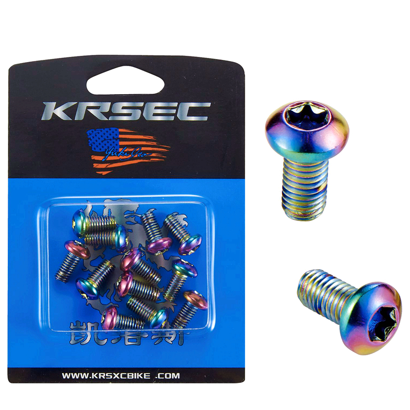 12 Pcs Bike Screws M5x 10mm Disc Brake Rotor Bolts MTB Bicycle Parts US