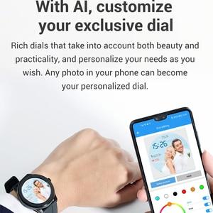 Image 3 - LEMFO ساعة ذكية الرجال النساء كامل شاشة تعمل باللمس مخصص مراقب معدل ضربات القلب رسالة تذكير الصحة الرياضة المقتفي Smartwatch T6