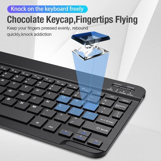 Coolreall Wireless Keyboard For IOS Ipad Android Tablet PC Windows Bluetooth Keyboard Ipad Bluetooth Keyboard For iPhone Samsung 1
