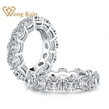 Wong Rain 925 Sterling Silver Round Cut Created Moissanite G