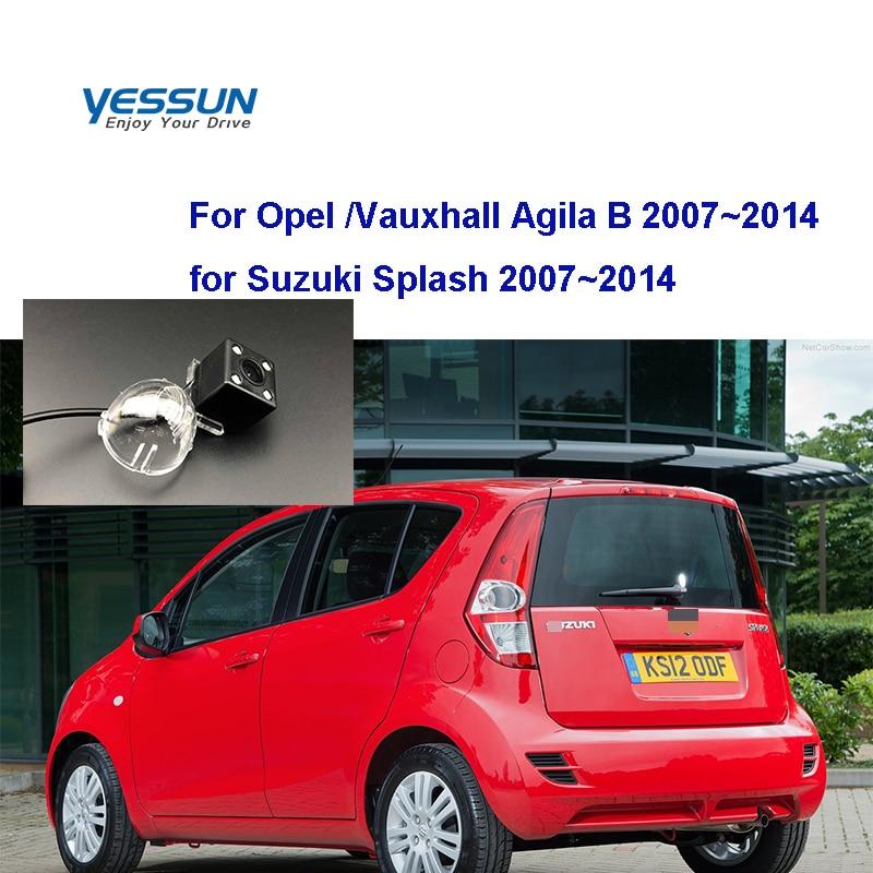Yessun License Plate Camera  For Opel  Vauxhall Agila B 2007~2014 For Suzuki Splash 2007 Car Rear View Camera Parking Assistance