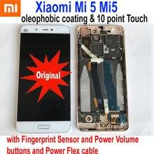 الأصلي جديد أفضل الزجاج الاستشعار عن شاومي Mi 5 Mi5 نوت 2 نوت 3 LCD عرض تعمل باللمس محول الأرقام الجمعية مع الإطار بانتيلا
