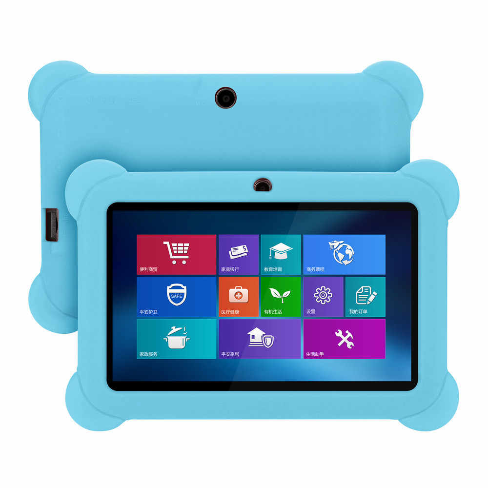 7 pulgadas Tablet PC funda protectora de silicona antisuciedad niños Tablet PC Universal Color puro protector Shell