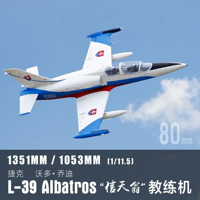 Freewing 2018 год, самый новый модель самолета EPO RC L39 L-39 Albatros 80 мм EDF Jet