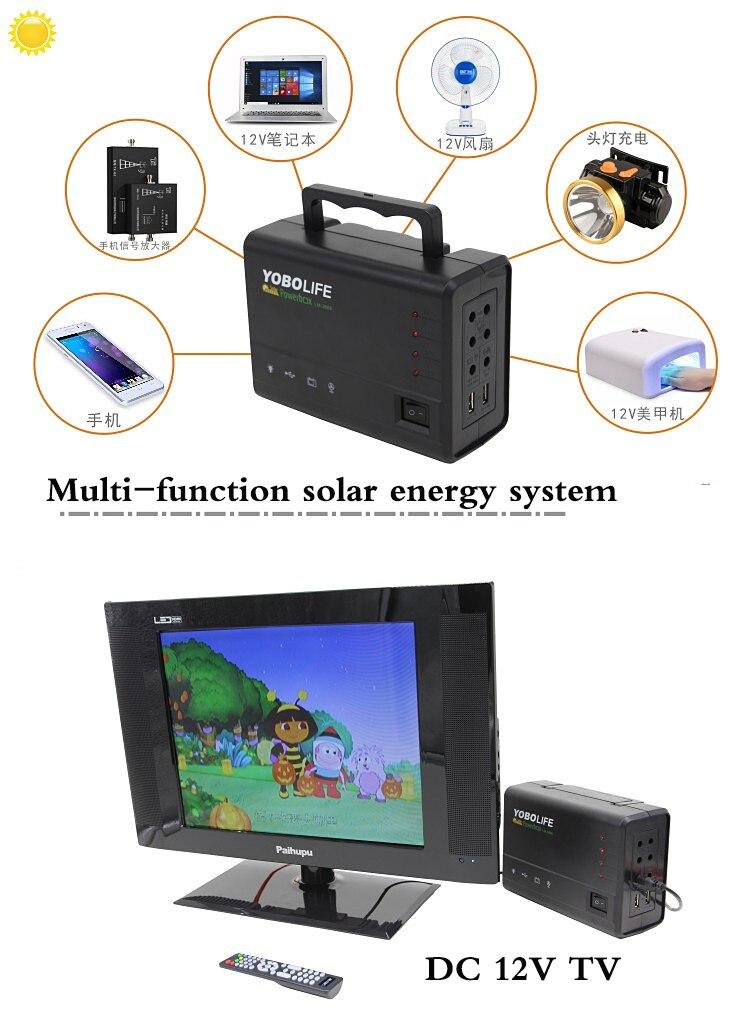 Pequeno Sistema de Energia Solar de Iluminação Ao Ar Livre